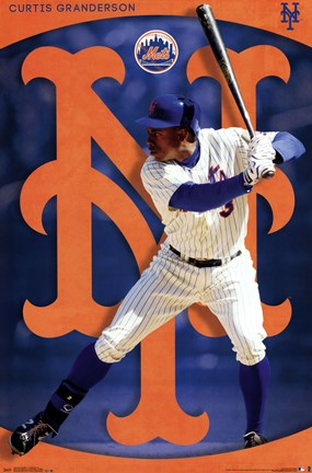 Framed New York Mets® - C Granderson 14 Print