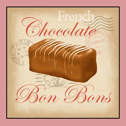 Framed French Chocolate Bonbons Print