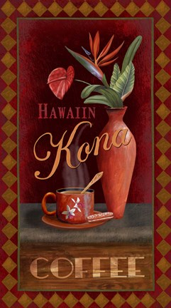 Framed Kona Coffee Print
