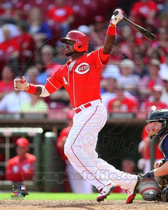 Framed Brandon Phillips 2014 batting Action Print