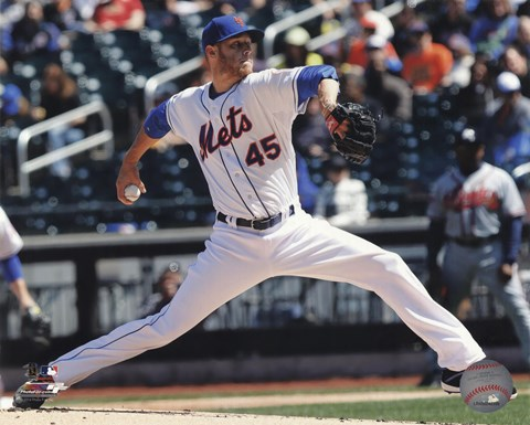 Framed Zack Wheeler Pitching Baseball Print