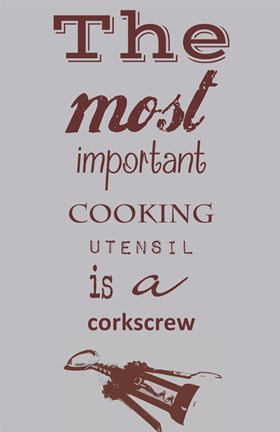 Framed Most Important Cooking Utensil Print