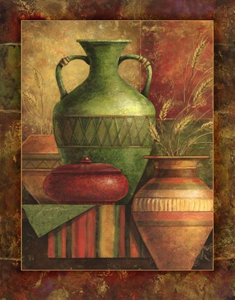 Framed Earthen Vessels II Print