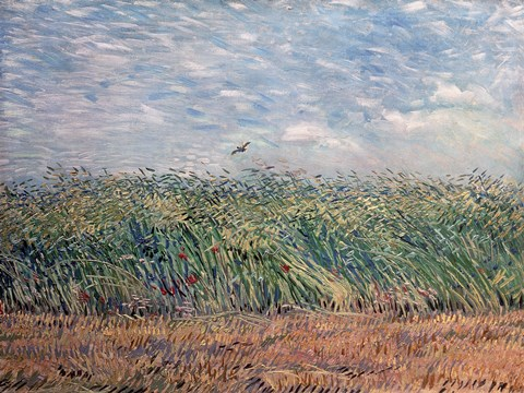 Framed Wheatfield with Lark, 1887 Print