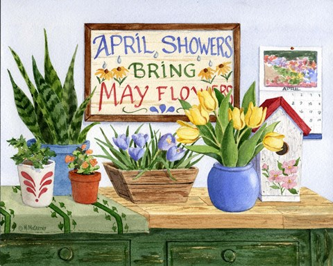 Framed April Showers Print