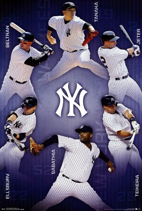 Framed New York Yankees - Collage 14 Print