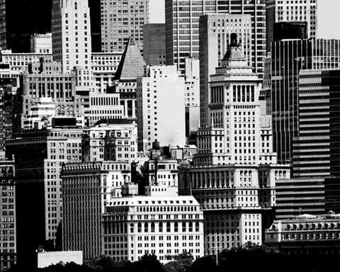 Framed NYC Skyline IX Print