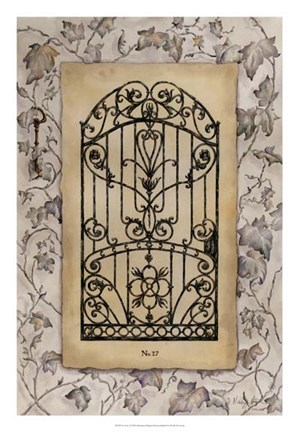 Framed Ivy Gate I Print