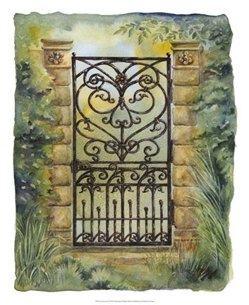 Framed Iron Gate I Print