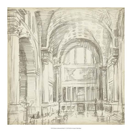 Framed Interior Architectural Study IV Print