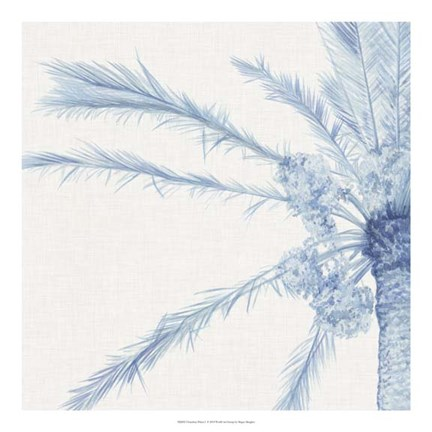 Framed Chambray Palms I Print
