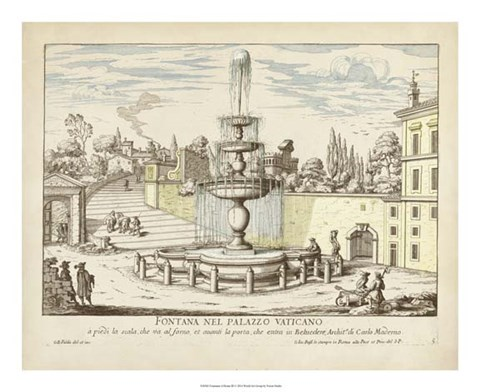 Framed Fountains of Rome III Print