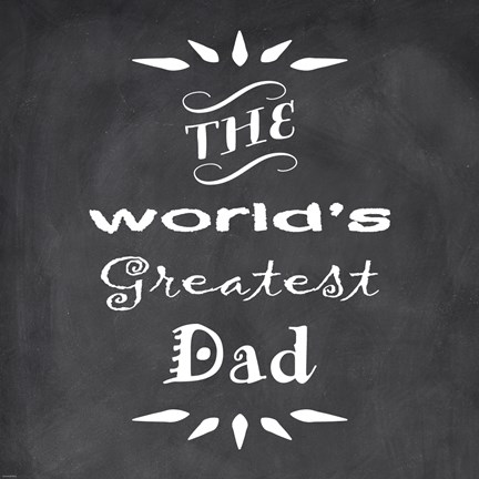 Framed World's Greatest Dad I Print