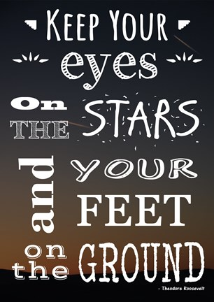 Framed Keep Your Eyes On the Stars- Theodore Roosevelt Print