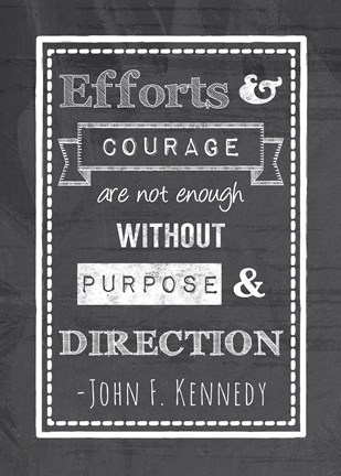 Framed Efforts & Courage Print