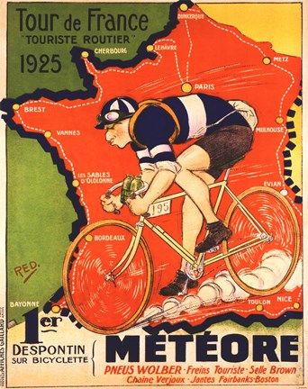 Framed Tour de France 1925 Print