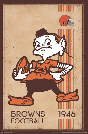Framed Cleveland Browns - Retro Logo 14 Print