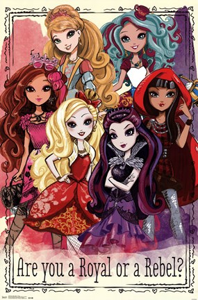 Framed Ever After High - Group Print