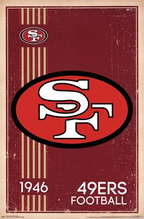 Framed San Francisco 49ers - Retro Logo 14 Print