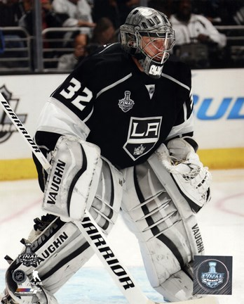 Framed Jonathan Quick Game 2 of the 2014 Stanley Cup Finals Action Print