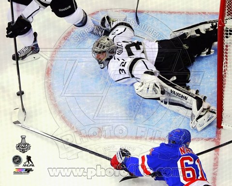 Framed Jonathan Quick Game 3 of the 2014 Stanley Cup Finals Action Print