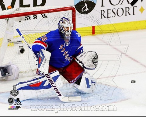 Framed Henrik Lundqvist Game 4 of the 2014 Stanley Cup Finals Action Print