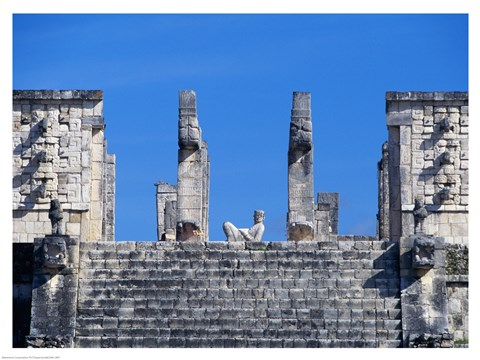 Framed Chac Mool Temple of the Warriors Chichen Itza Print