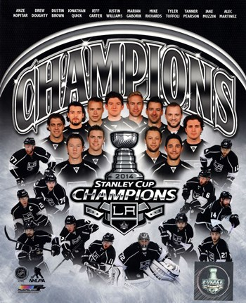 Framed Los Angeles Kings 2014 Stanley Cup Champions Composite Print
