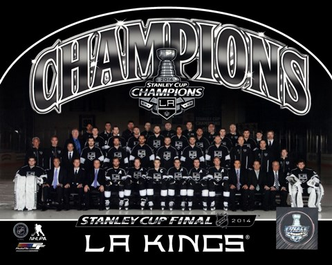 Framed Los Angeles Kings 2014 NHL Stanley Cup Champions Team Sit Down Photo Print