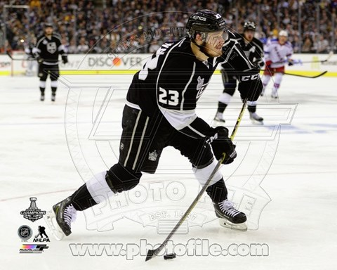 Framed Dustin Brown Game 5 of the 2014 Stanley Cup Finals Action Print