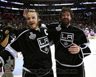 Dustin Brown & Justin Williams Celebrate Winning Game 5 of the 2014 Stanley Cup Finals Art