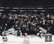 The Los Angeles Kings Celebration on ice Game 5 of the 2014 Stanley Cup Finals Action Art