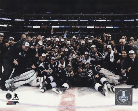 Framed Los Angeles Kings Celebration on ice Game 5 of the 2014 Stanley Cup Finals Action Print