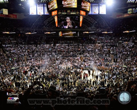 Framed AT&T Center Game 5 of the 2014 NBA Finals Print