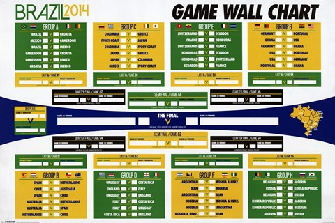 Framed World Cup - Wall Chart Print