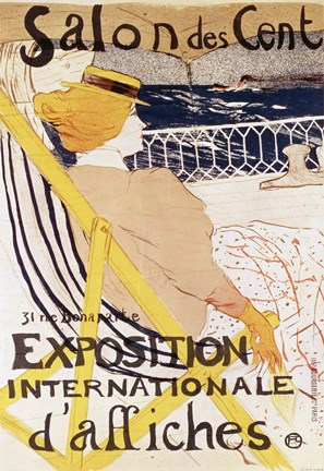 Framed Poster advertising the 'Exposition Internationale d'Affiches', Paris, c.1896 Print