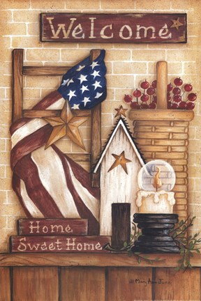 Welcome Home Fine Art Print By Mary Ann June At