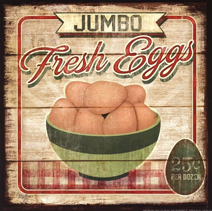 Framed Jumbo Fresh Eggs Print
