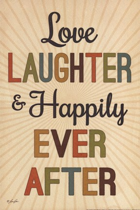 Framed Love, Laughter & Happily Ever After Print