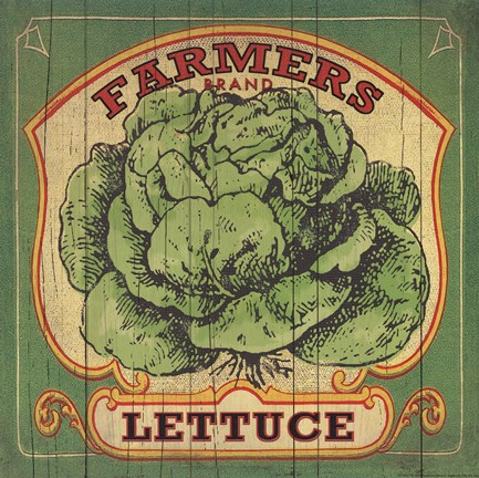 Framed Lettuce Label Print