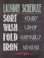Laundry Schedule Art