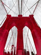 Brooklyn Bridge Red  Fine Art Print