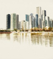 Chicago Waterfront B  Fine Art Print