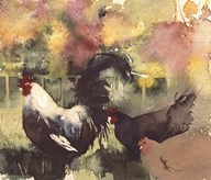 Dahlia Border  Fine Art Print