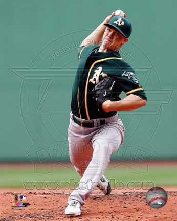 Framed Sonny Gray on field 2014 Print