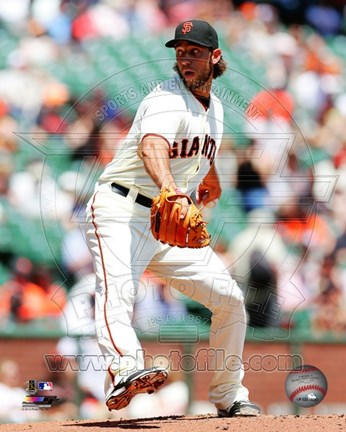 Framed Madison Bumgarner 2014 Action Print