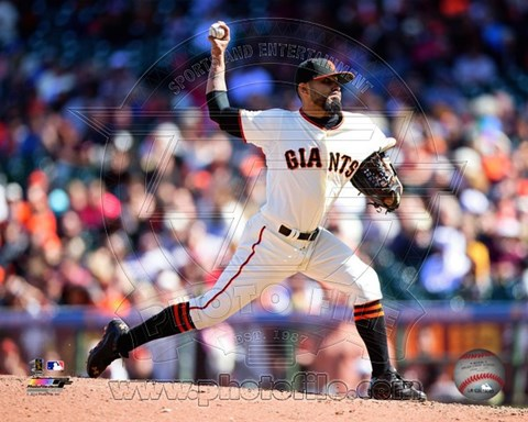 Framed Sergio Romo 2014 Action Print