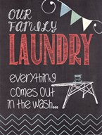 Family Laundry  Fine Art Print