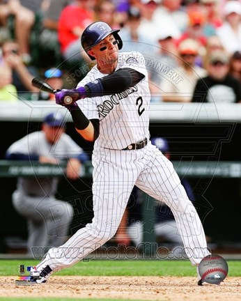 Framed Troy Tulowitzki Baseball Swing Print