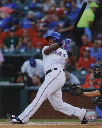 Framed Adrian Beltre 2014 Action Print